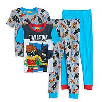 Boys 4-10 Lego Batman Movie Glow-In-The-Dark 4-Piece Pajama Set