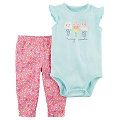Baby Girl Carter's 'Mommy's Sweetie' Ice Cream Bodysuit & Sprinkles Pants Set