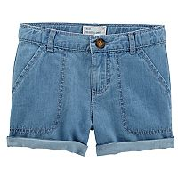 Toddler Girl Carter's Cuffed Denim Shorts