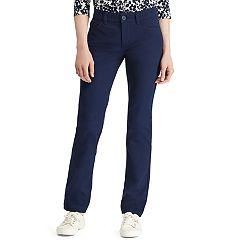 Women's Chaps Twill Straight-Leg Pants