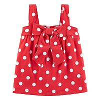Toddler Girl Carter's Polka-Dot Bow Tank Top