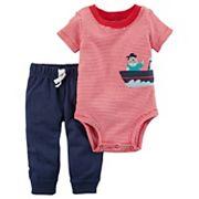 Baby Boy Carter's Striped Pirate Bodysuit & Pants Set