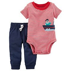 Baby Boy Carter's Striped Pirate Bodysuit & Pants Set