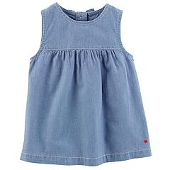 Toddler Girl Carter's Babydoll Chambray Tank Top