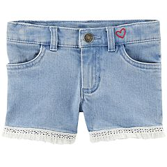Toddler Girl Carter's Fringe Denim Shorts