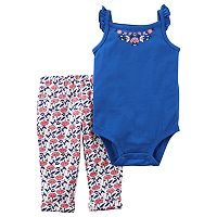 Baby Girl Carter's Flutter Bodysuit & Leggings Set