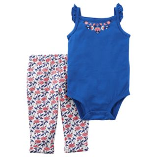 Baby Girl Carter's Flutter Bodysuit & Leggings Set