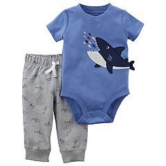 Baby Boy Carter's Shark Applique Bodysuit & Jogger Pants Set