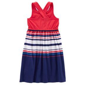 Toddler Girl Carter's Patriotic Striped Dress