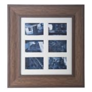 "Bombay Faux-Wood 6-Opening 4"" x 6"" Collage Frame"