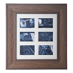 Bombay Faux-Wood 6-Opening 4' x 6' Collage Frame