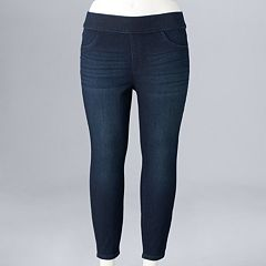 Plus Size Simply Vera Vera Wang Pull-On Capri Jeggings