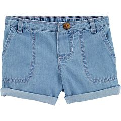 Baby Girl Carter's Chambray Roll Cuff Shorts