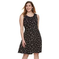 Plus Size Apt. 9® Lace Trim Fit & Flare Dress