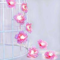 Manor Lane 10-ft. Artificial Cherry Blossom String Lights