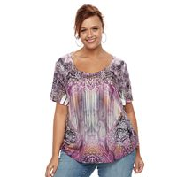 Plus Size World Unity Printed Top