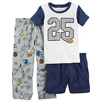 Boys 4-12 Carter's Sports 3-Piece Pajama Set