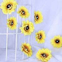 Manor Lane 10-ft. Artificial Sunflower String Lights