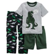Boys 4-12 Carter's Dinosaur 3-Piece Pajama Set