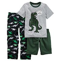 Boys 4-12 Carter's Dinosaur 3 pc Pajama Set