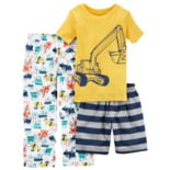 Boys 4-8 Carter's Construction 3 pc Pajama Set