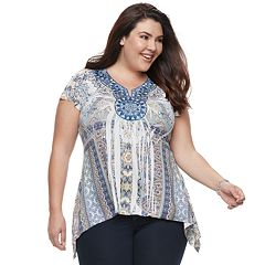 Plus Size World Unity Medallion Top
