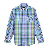 Boys 4-20 Chaps Clinton Plaid Button-Down Shirt