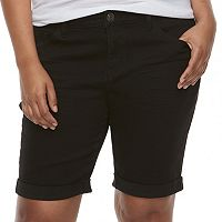 Juniors' Plus Size SO® Low Rise Bermuda Shorts