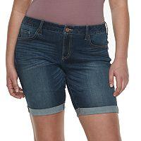 Juniors' Plus Size SO® Low Rise Bermuda Shorts