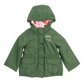 Baby Girl Carter's Midweight Olive Fleece-Lined Anorak Jacket