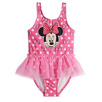 Disney's Minnie Mouse Toddler Girl Polka-Dot Tulle One-Piece Swimsuit
