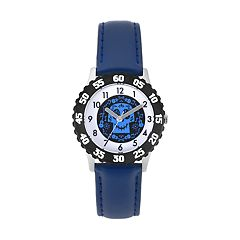 Disney•Pixar Coco Kids' Sugar Skull Leather Watch
