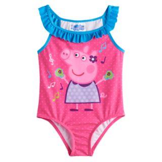 Toddler Girl Peppa Pig 1-Piece Swimsuit