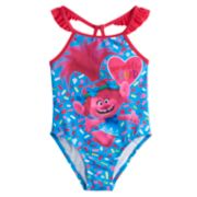 Toddler Girl DreamWorks Trolls 1-Piece Swimsuit