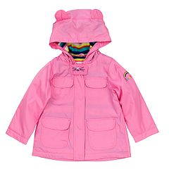 Baby Girl Carter's Midweight 3D Ear Pink Anorak Jacket