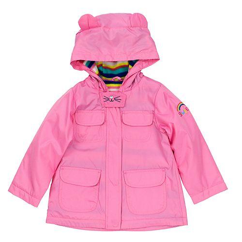 Baby Girl Carter's Midweight 3D Ear Pink Anorak Jacket