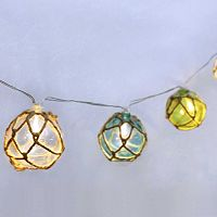 Manor Lane 10-ft. Jute Sphere String Lights