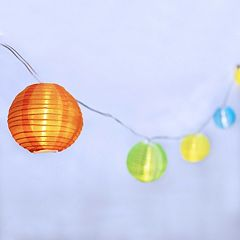 Manor Lane 10-ft. Colorful Lantern String Lights