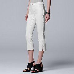 Petite Simply Vera Vera Wang Vented Capri Jeans