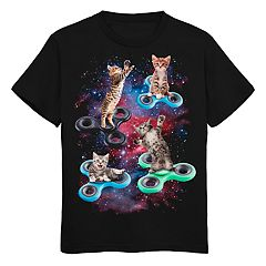 Boys 8-20 Kitten Figet Spinner Tee