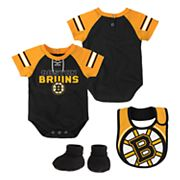 Baby Boston Bruins 3 pc Bodysuit, Bib & Booties Set