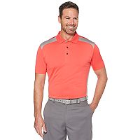 Men's Grand Slam On Course Colorblock Stretch Performance Golf Polo