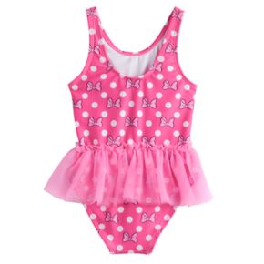 Disney's Minnie Mouse Baby Girl One-Piece Tutu Swimsuit