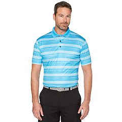 Men's Grand Slam On Course Striped Golf Polo