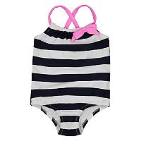 Baby Girl Kiko & Max Striped One-Piece Swimsuit