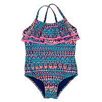 Baby Girl Kiko & Max Layered Printed Swimsuit