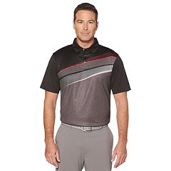 Men's Grand Slam On Course Regular-Fit Optical Geo Stretch Performance Golf Polo