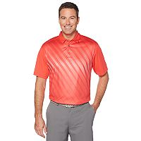 Men's Grand Slam On Course Gradient Fineline Print Golf Polo