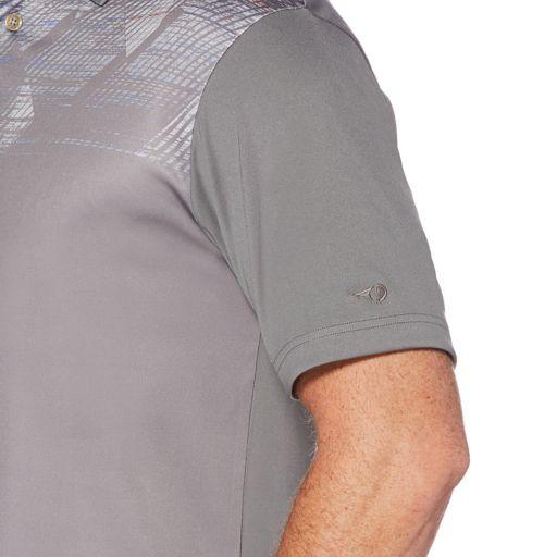 Men's Grand Slam On Course Spacedye Argyle Print Golf Polo