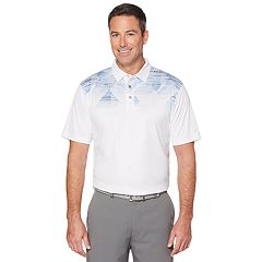 Men's Grand Slam On Course Spacedye Argyle Print Golf Polo